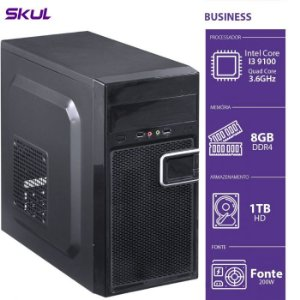 Computador Business B300 - I3-9100 3.6GHZ 8GB DDR4 HD 1TB HDMI/VGA Fonte 200W