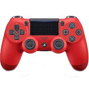 Controle sem Fio DualShock 4 Sony Vermelho PS4