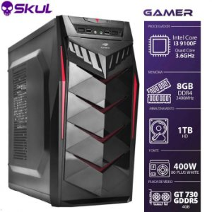 Computador Gamer 3000 - I3 9100F 3.6GHZ 9ª Ger. Vídeo GT 730 GDDR5 2Gb Memória 8GB DDR4 HD 1TB Fonte 400W 80 Plus White