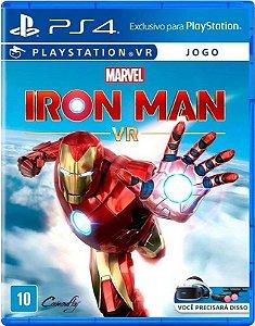 Jogo Marvels Iron Man VR PS4 Mídia Física