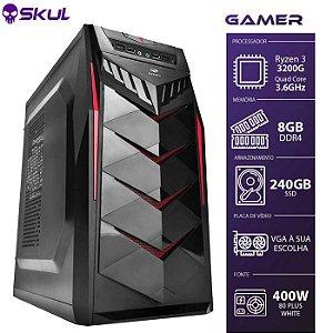 Computador Gamer 3000 - Ryzen 3 3200G 3.6GHZ Memória 8GB DDR4 SSD 240GB HDMI/VGA Fonte 400W