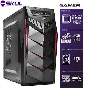 Computador Gamer 3000 - I3 9100F 3.6GHZ 9ª Geração. Sem Vídeo Integrado Memória 8GB DDR4 HD 1TB Fonte 400W 80 Plus White