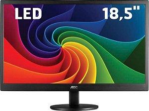 "Monitor LED AOC 18,5"" 1366X768(HD) 5MS 60HZ VGA E970SWNL Widescreen"