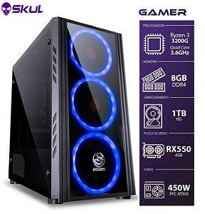 Computador Gamer 3000 R3 3200G 3.6GHZ MEM. 8GB HD 1TB RX 550
