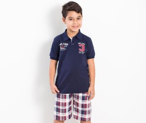 Conjunto Camisa Polo/Bermuda Sailing First Mate TMX Kids & Teens