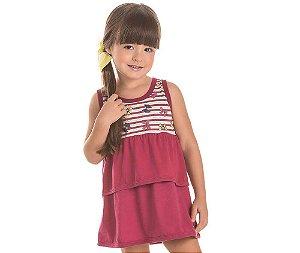 Vestido Infantil com Babado Laços Bicho Bagunça