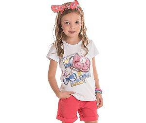 Blusa Infantil Cotton Girl Power Bicho Bagunça