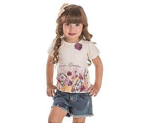 Blusa Infantil Cotton Rose Garden