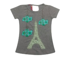 Blusa Infinity Torre Eiffel com Pedras Furreka
