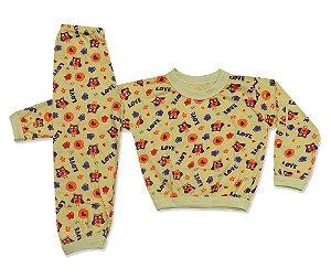 Pijama Flanelado Infantil Corujinha
