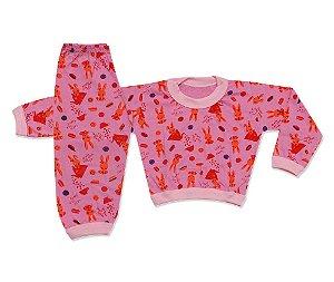 Pijama Flanelado Infantil Coelhinho