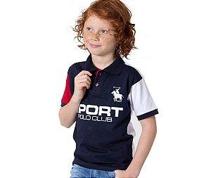 Camisa Gola Polo Infantil Sport Polo Club G91 Style
