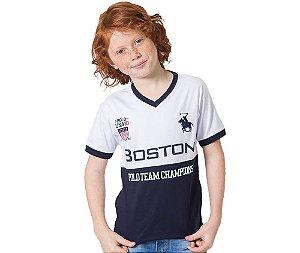 Camisa Infantil Boston Polo Team Champions G91 Style