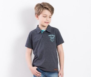 Camisa Polo Infantil Miami Beach Surf Lifestyle TMX Kids & Teens