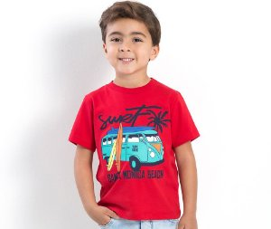 Camiseta Infantil Surf Santa Monica Beach TMX Kids & Teens