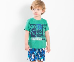Conjunto Infantil Camisa Polo First Mate TMX Kids & Teens - Branco