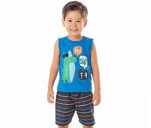 Conjunto Infantil Regata Hi Surf Fun By Gus - Azul