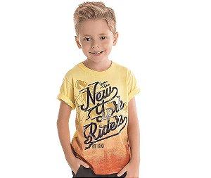 Camiseta Infantil c/ Gel New York Riders Bicho Bagunça