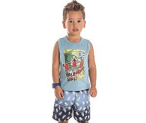 Conjunto Infantil Camiseta Siri Baby Bicho Bagunça