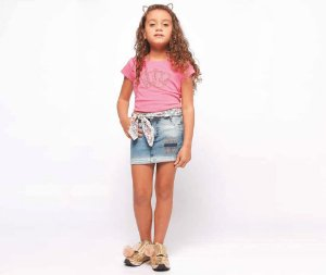 Saia Jeans Infantil Feminino MRX Kids