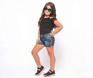 Short Jeans Infantil Feminino MRX Kids
