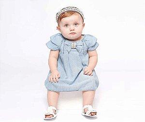 Vestido Jeans Bebê MRX Kids