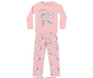Pijama Infantil Blusa m/longa e Calça Fakini