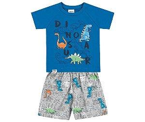 Cj. Camisa e Bermuda Tactel Infantil Fakini