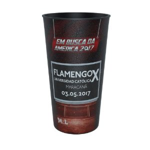 Copo Colecionável Flamengo Eu Fui FLA x UCA 2017 500 ml
