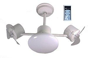Ventilador de Teto Treviso Infinit Plus Branco com Controle Remoto e iluminação Led