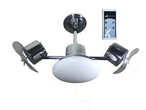 Ventilador de Teto Treviso Infinit Plus Cromado com Controle Remoto