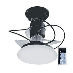 Ventilador De Teto Treviso Atenas Preto com Controle Remoto