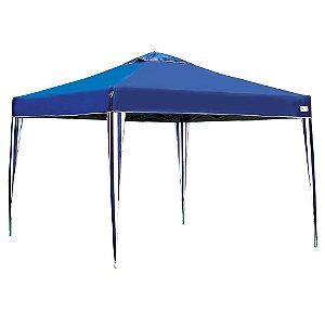 Tenda Gazebo X-Flex Mor 3 X 3 M Dobrável Pés Em Alumínio Azul