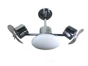 Ventilador de Teto Treviso Infinit Plus Cromado com iluminação LED