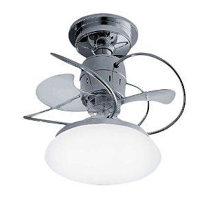 Ventilador De Teto Treviso Atenas Cromado com iluminação LED