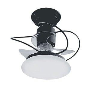 Ventilador De Teto Treviso Atenas Preto com iluminação LED