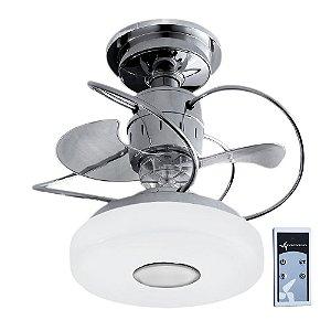 Ventilador De Teto Treviso Monaco Cromado com Controle Remoto e iluminação LED