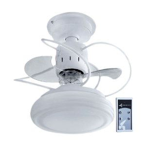 Ventilador De Teto Bali Branco + Controle Remoto e iluminação LED Treviso