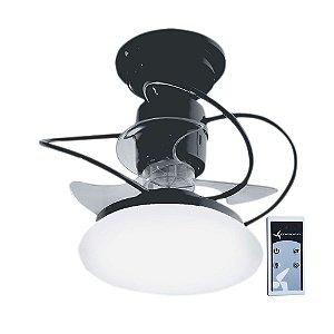 Ventilador De Teto Treviso Atenas Preto com Controle Remoto e iluminação LED