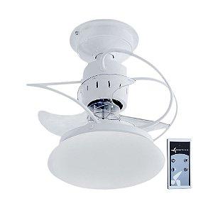 Ventilador De Teto Treviso Atenas Branco com Controle Remoto e iluminação LED