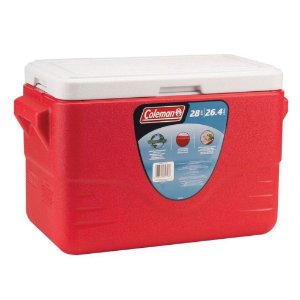 Caixa Térmica Coleman 28 QT 26,6 Litros Vermelha