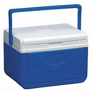 Caixa Térmica Coleman 5 QT 4,7 Litros Azul Tampa Articulada