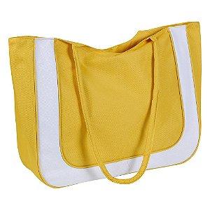 Bolsa De Praia Mor Com Forro Amarelo