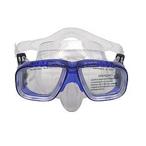 Máscara Nautika De Mergulho X-Dive Azul