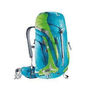 Mochila Deuter Act Trail Pro 34 Azul com Verde