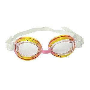 Óculos Nautica De Natação Split Rosa e Amarelo