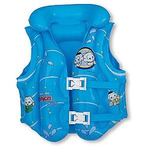 Colete Inflável Infantil Mor Turma Da Mônica Baby Azul