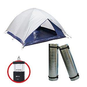 Super Combo Lazer - Barraca Dome 4 p + 2 un Isolante Térmico Ganhe Lampião Talino