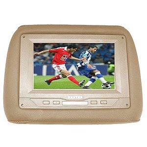 Encosto de Cabeça com Tela LCD 7 Pol Bege Rexter