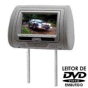Encosto de Cabeça KX3 Tela LCD 7 Pol DVD728 Cinza